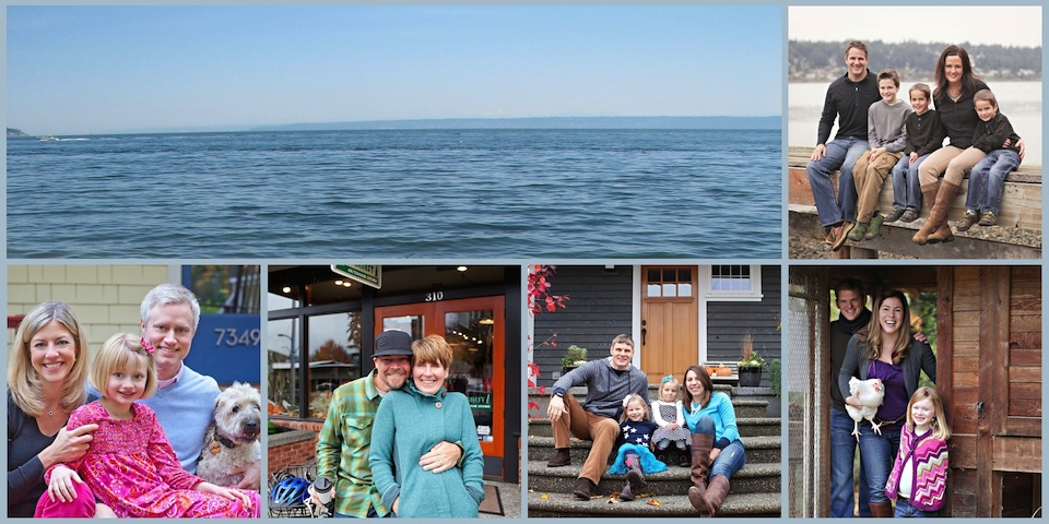 A Collage of families who moved to Bainbridge Island