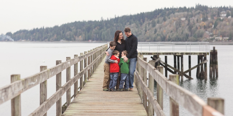 A Family on Point White Pier