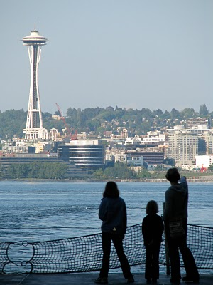 View of Seattle from the Bainbridge Island Ferry - Jen Pells