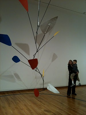 One of Alexander Calder's Mobiles on display at the Seattle Art Museum