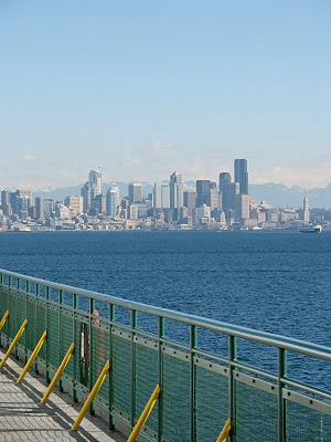 View of Seattle from the Bainbridge Island Ferry