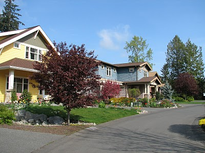 Homes in the Rolling Bay Neighborhood on Bainbridge Island
