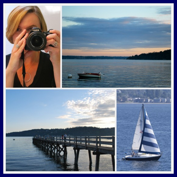 A collage of pictures from Bainbridge Island, taken with my new camera