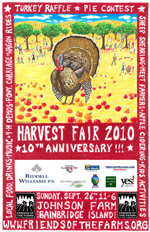 Bainbridge Island Harvest-Fair-poster-2010 at the Johnson Farm