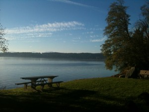 Fort Ward State Park on Bainbridge Island.  Great hiking, biking and picnic areas.