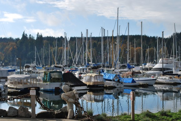 The Eagle Harbor Marina on Bainbridge Island.
