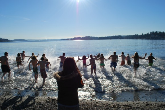 Polar Bear Plunge on Bainbridge Island.
