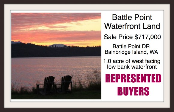 Battle Point Land sale on Bainbridge Island sold by Broker Jen Pells of Windermere Bainbridge