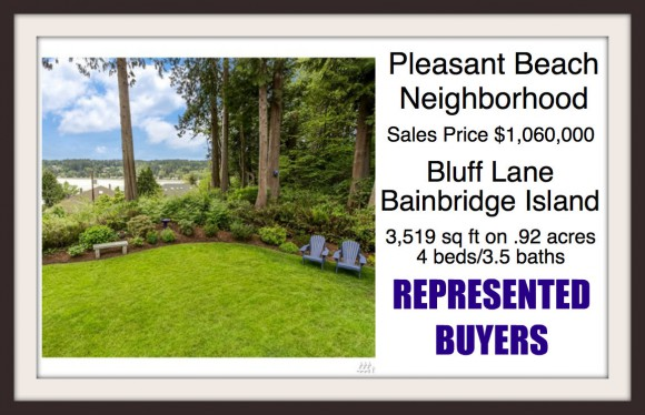 Bluff Lane on Bainbridge Island Sold by Jen Pells of Windermere
