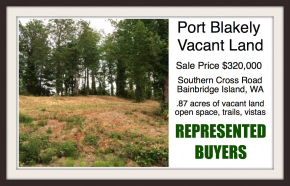 Southern Cross Rd vacant land on Bainbridge Island, sold by Jen Pells of Windermere Bainbridge