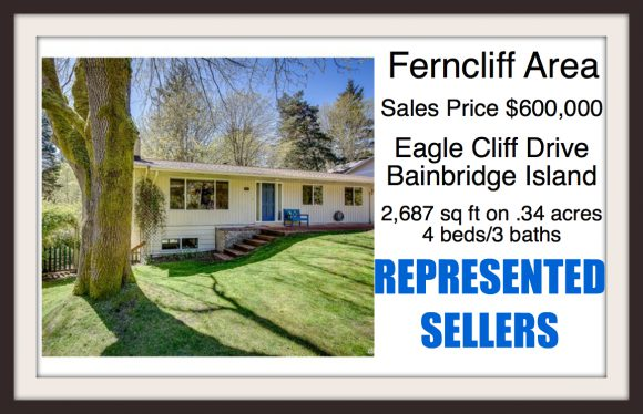 Eagle Cliff Drive on Bainbridge Island sold by Jen Pells Windermere Broker