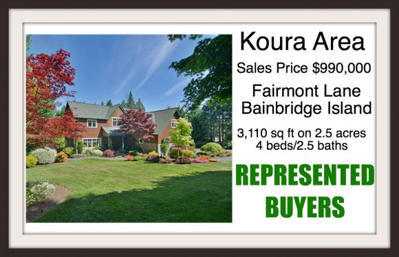 Fairmont Lane on Bainbridge Island sold by Jen Pells Windermere Broker