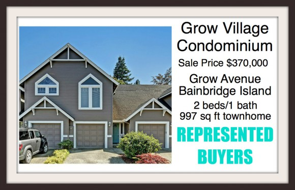 Grow Village Condo on Bainbridge Island Sold by Jen Pells Windermere Realtor