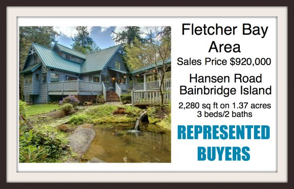 Hansen Rd on Bainbridge Island Sold by Jen Pells Windermere Realtor
