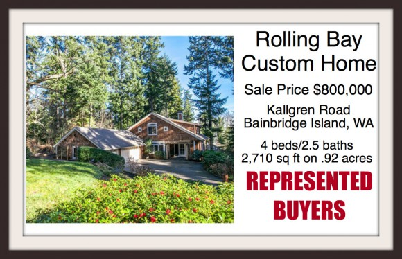 Kallgren Road home on Bainbridge Island sold by broker Jen Pells of Windermere