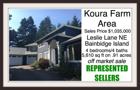 Leslie Lane NE on Bainbridge Island sold by Jen Pells Real Estate
