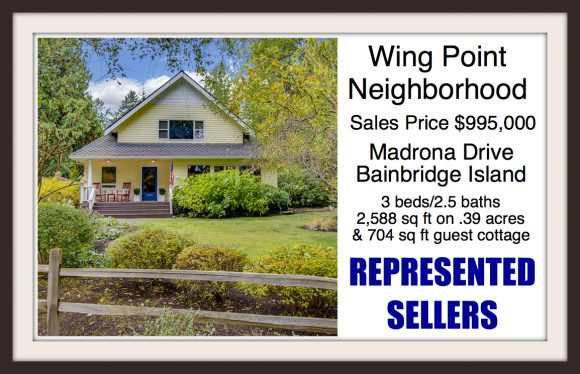 Madrona Drive on Bainbridge Island Sold by Jen Pells Real Estate Windermere