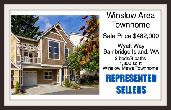 Bainbridge Island Town home sold by Windermere Bainbridge Agent Jen Pells
