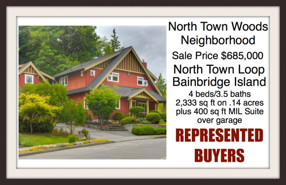 Home in North Town Woods on Bainbridge Island Sold by Jen Pells Windermere Realtor