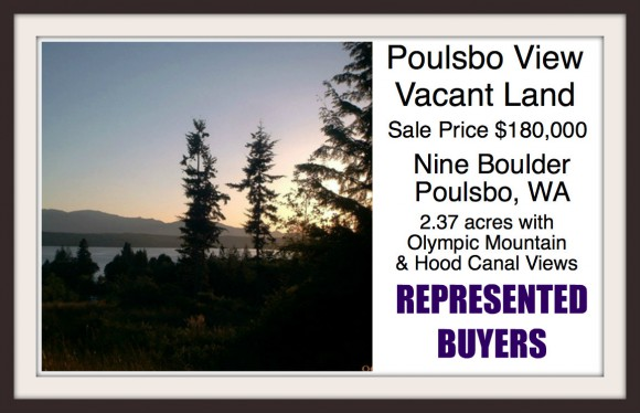 Nine Boulder vacant land in Poulsbo sold by Jen Pells of Windermere Bainbridge