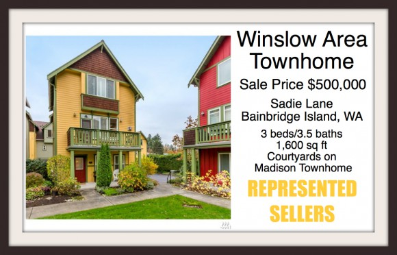 Winslow townhouse on Sadie Ln sold by Jen Pells Windermere Bainbridge