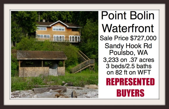 Sandy Hook Road Waterfront home in Poulsbo sold by broker Jen Pells of Windermere Bainbridge
