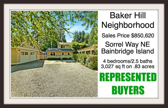 4485 Sorrel Way NE on Bainbridge Island sold by Jen Pells Real Estate