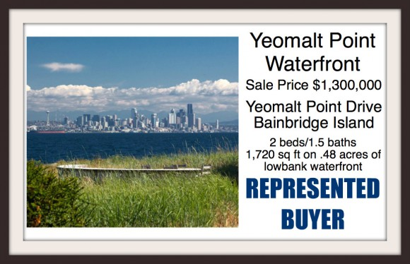 Waterfront home on Bainbridge Island Sold by Jen Pells Windermere Realtor