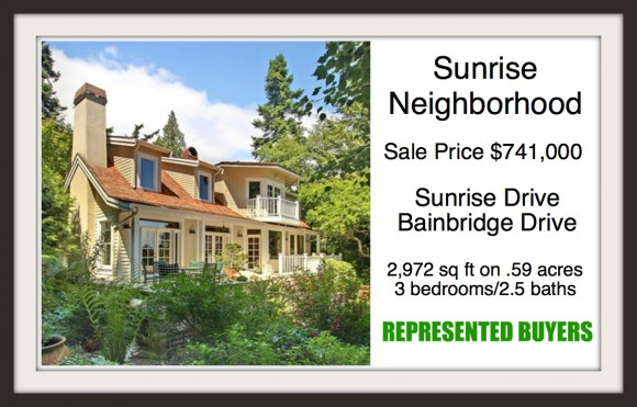 Sunrise Drive on Bainbridge Island sold by Jen Pells