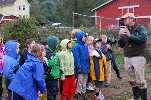 Blakely Elementary Students learn about farming at HeyDay Farms on Bainbridge Island.