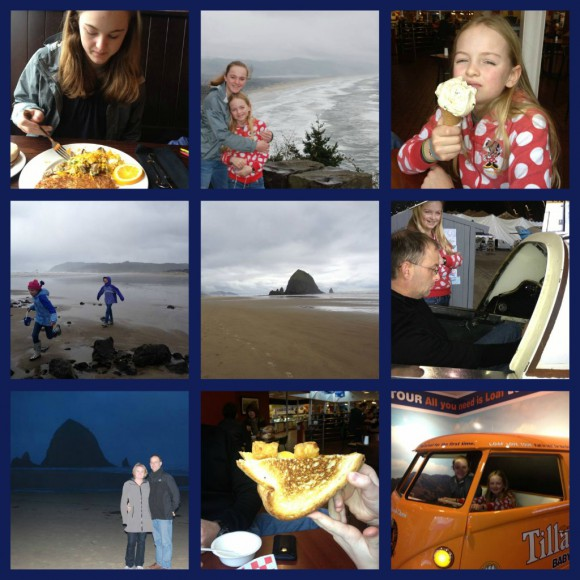 Cannon Beach collage by Jen Pells