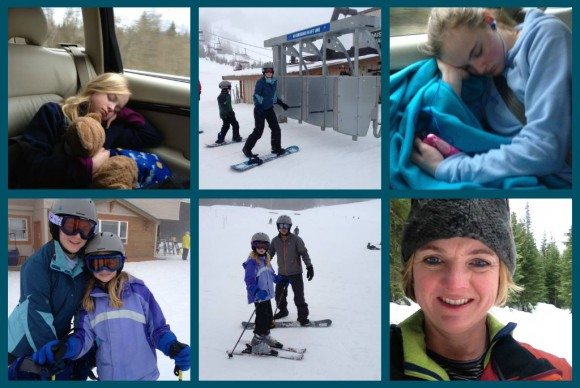 Stevens Pass collage by Jen Pells