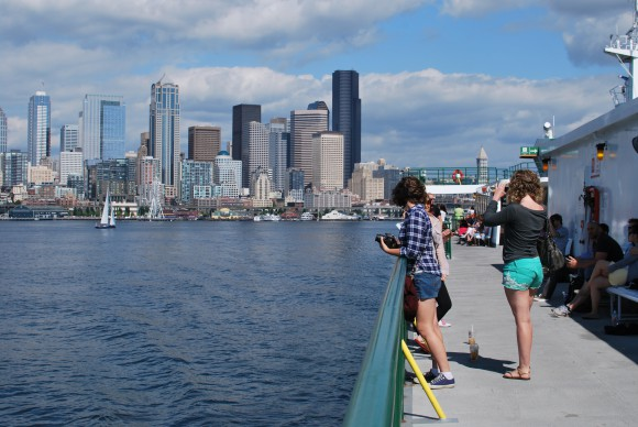 The Bainbridge Island Ferry from Seattle.  Summer 2013.