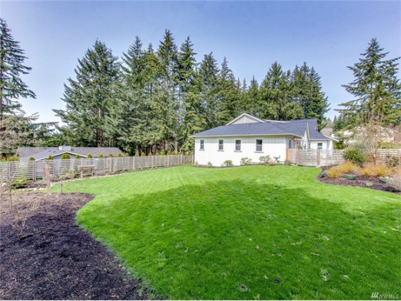 Plenty of run around space on this .30 acre fenced lot. A gate in the fence has easy access to Rotary Park, your neighbor.