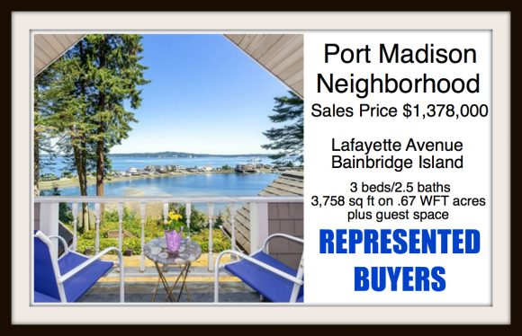 Lafayette Ave on Bainbridge Island sold by Jen Pells Real Estate