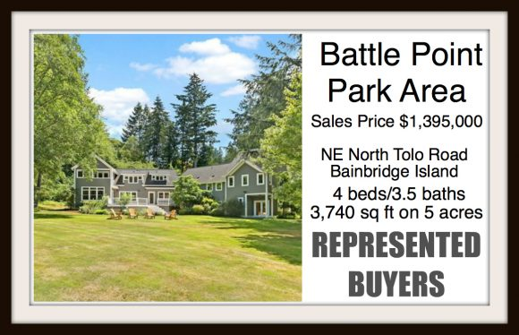 North Tolo Road on Bainbridge Island sold by Jen Pells Real Estate