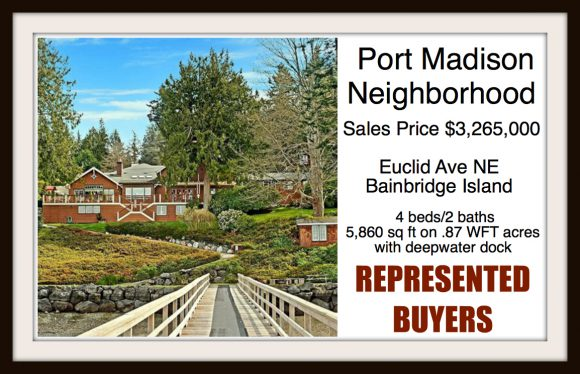 Euclid Ave NE on Bainbridge Island sold by Jen Pells Real Estate