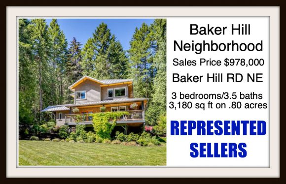 Baker Hill on Bainbridge Island sold by Jen Pells Real Estate