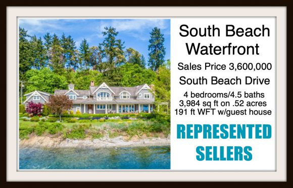 South Beach Drive Waterfront on Bainbridge Island sold by Jen Pells Real Estate