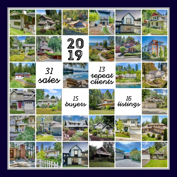Jen Pells' 2019 Sales collage for Bainbridge Island