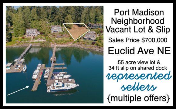 Euclid Ave Vacant Lot and Slip sold by Jen Pells Realtor on Bainbridge Island