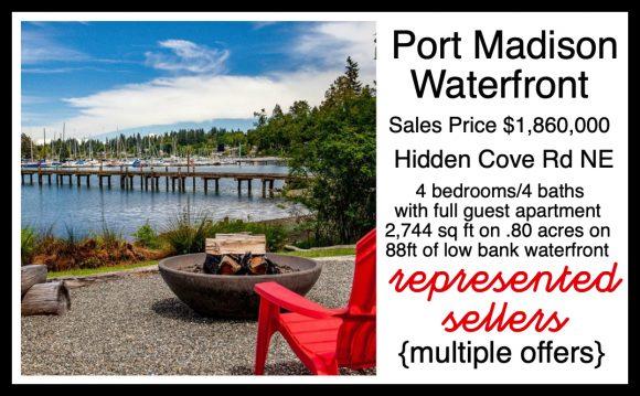Hidden Cove Waterfront Home on Bainbridge Island sold by Jen Pells Realtor