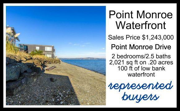Point Monroe Waterfront home on Bainbridge Island sold by Jen Pells Realtor