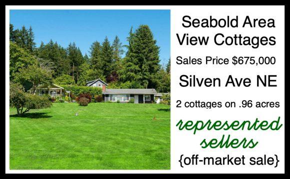 Silven Ave cottages on Bainbridge Island sold by Jen Pells Realtor